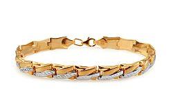 Zlatý dámsky dvojfarebný náramok IZ10909