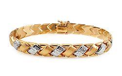 Zlatý dámsky dvojfarebný náramok IZ10910