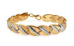 Zlatý dámsky dvojfarebný náramok IZ10911