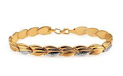 Zlatý dámsky dvojfarebný náramok IZ10913