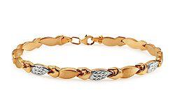 Zlatý dámsky dvojfarebný náramok IZ10915