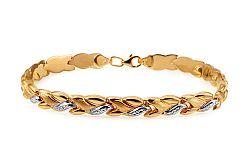Zlatý dámsky dvojfarebný náramok IZ10916