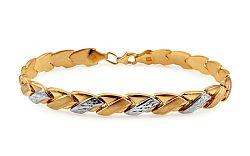 Zlatý dámsky dvojfarebný náramok IZ10918