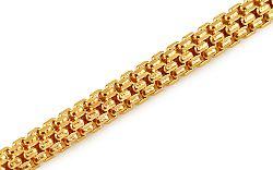 Zlatý dámsky náramok 3 mm IZ10896