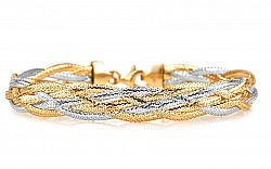 Zlatý dámsky náramok kolekcia Flexi IZ5425