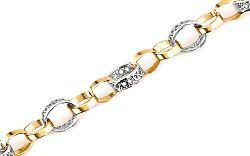 Zlatý dámsky náramok kruhy RINGS IZ5410