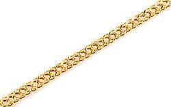 Zlatý dámsky náramok Rombo 2 mm 9IZ025