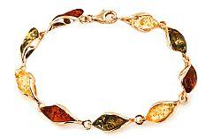 Zlatý dámsky náramok s jantárom Lerias IZ7015