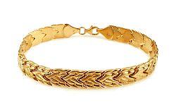 Zlatý dámsky náramok s matovaním IZ10651