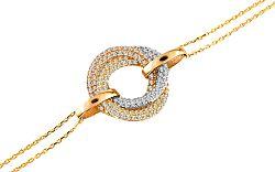 Zlatý dámský náramok Three Rings IZ6414
