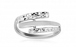 Zlatý dámsky prsteň Adela 1 white IZ7295