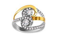 Zlatý dámsky prsteň elegance IZ899