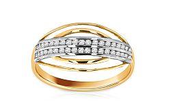 Zlatý dámsky prsteň Ines 6 CSRI971