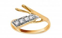 Zlatý dámsky prsteň light & modern IZ739