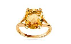 Zlatý dámsky prsteň s citrínom Adeline IZ6216