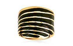 Zlatý dámsky prsteň s líniami IZ7706