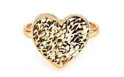 Zlatý dámsky prsteň Srdce IZ5997