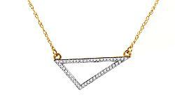 Zlatý diamantový náhrdelník Triangle KU420NH