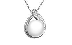 Zlatý diamantový prívesok s perlou KU461A