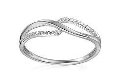 Zlatý diamantový prsteň 0.060 ct Felisa white IZBR344A