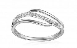 Zlatý diamantový prsteň 0.090 ct Izarra white IZBR343A