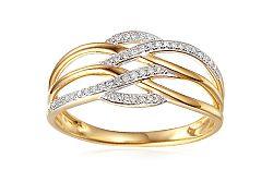 Zlatý diamantový prsteň 0.110 ct Elina IZBR341