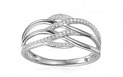 Zlatý diamantový prsteň 0.110 ct Elina white IZBR341A