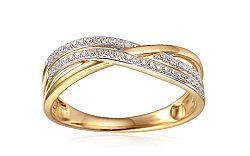 Zlatý diamantový prsteň 0.110 ct Isabeli IZBR342