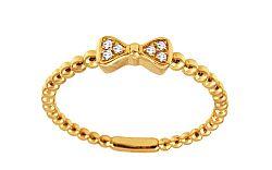 Zlatý diamantový prsteň s mašličkou IZBR235