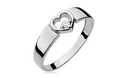 Zlatý diamantový zásnubný prsteň so srdcom Roxane white BSBR009A