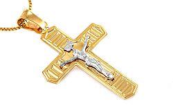 Zlatý dvojfarebný krížik IZ8469