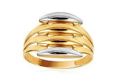 Zlatý dvojfarebný prsteň IZ10704