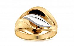 Zlatý dvojfarebný prsteň IZ10737