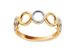 Zlatý dvojfarebný prsteň Rings IZ11378