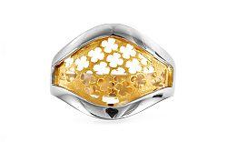 Zlatý dvojfarebný prsteň Sonberie IZ9196