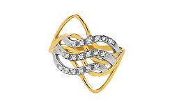 Zlatý elegantný prsteň Ines 3 CSRI925