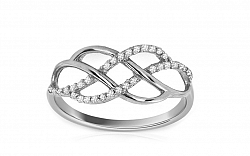 Zlatý elegantný prsteň INES 4 CSRI1184A