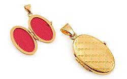 Zlatý gravírovaný medailón na fotku IZ11490