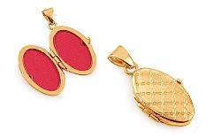 Zlatý gravírovaný medailón na fotku IZ11491