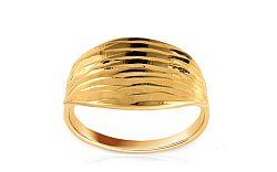 Zlatý gravírovaný prsteň IZ8598