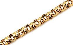Zlatý guličkový náramok 0,6cm IZ11136