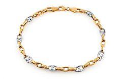 Zlatý kombinovaný náramok Jasper 5 mm IZ11427N