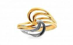 Zlatý kombinovaný prsteň IZ9965