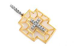 Zlatý krížik s kamienkami IZ6546