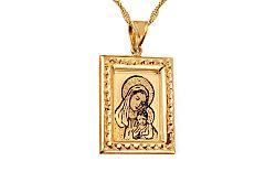 Zlatý medailón Madona s dieťaťom IZ10480