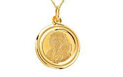 Zlatý medailón Madony s dieťaťom IZ7630