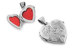 Zlatý medailón na fotku gravírované srdce IZ8377
