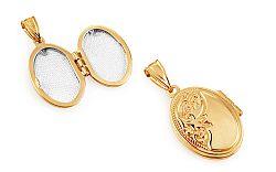 Zlatý medailón na fotku s gravírom IZ11052P