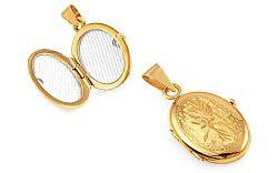 Zlatý medailón na fotku s gravírom IZ9479