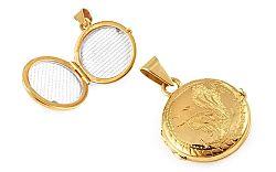 Zlatý medailón na fotku s gravírom IZ9485